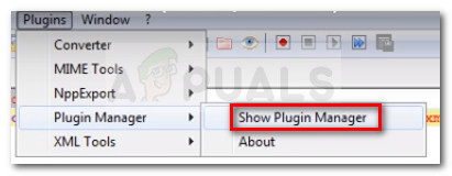 Opening Plugin Manager