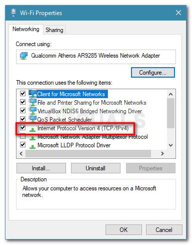 Access Internet Protocol Version 4 settings