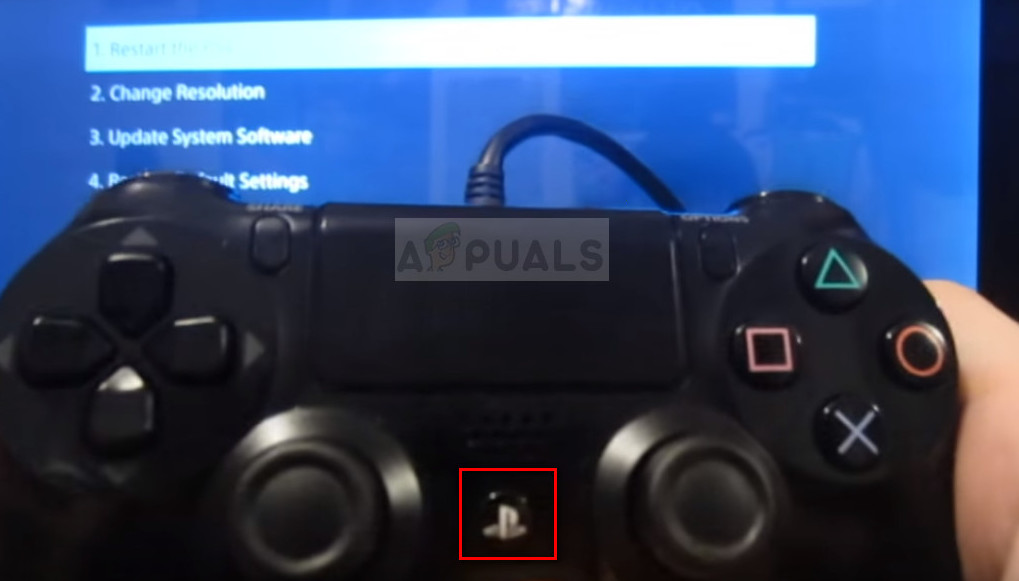 Connect controller to Ps4 via USB cable and press PS button