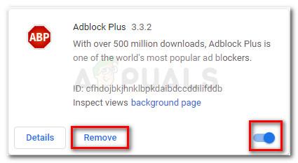 Remove or disable Adblock