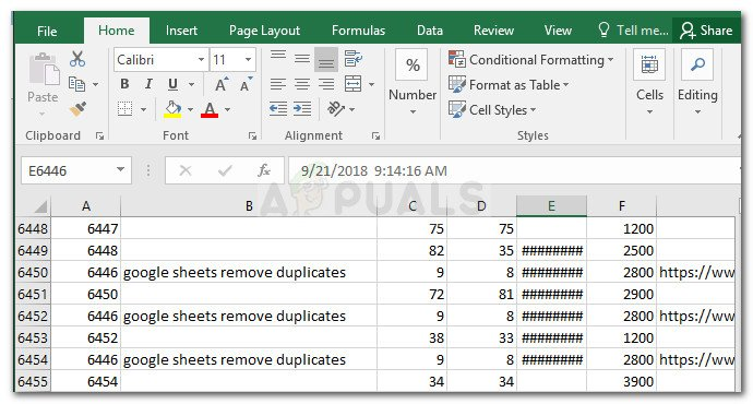 Duplicated rows on Excel