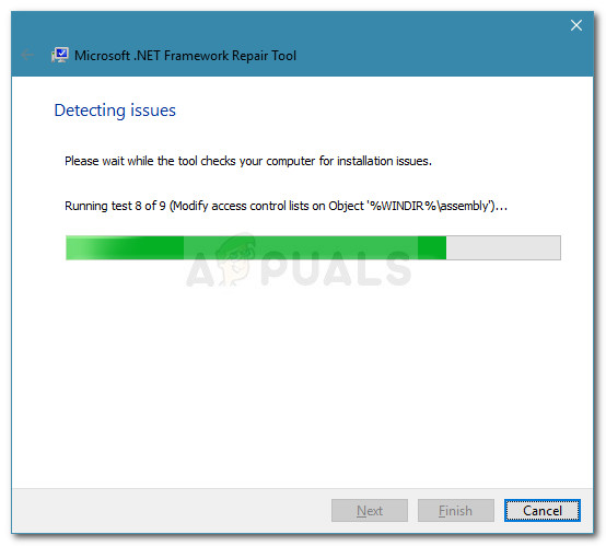 Running tests to scan for .NET framework issues