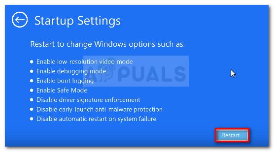 Starten Sie Ihren Computer im Menü Starteinstellungen neu