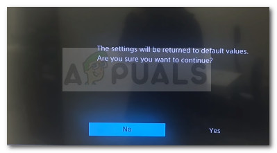 Revert Ps4 settings to default values