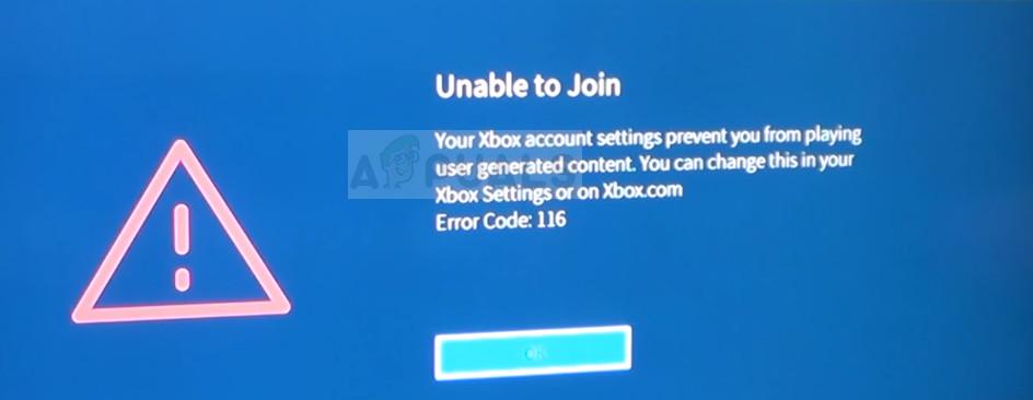Fix Roblox Error Code 116 On Xbox One App Appuals Com