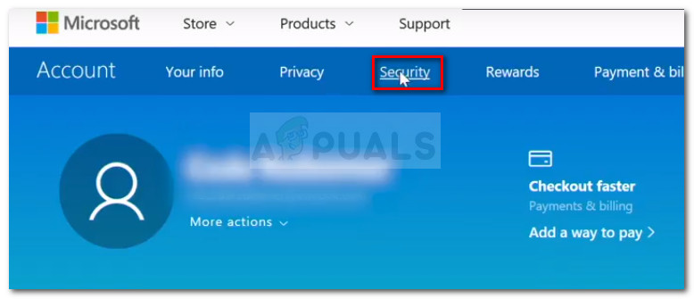 Access the Security tab of your account