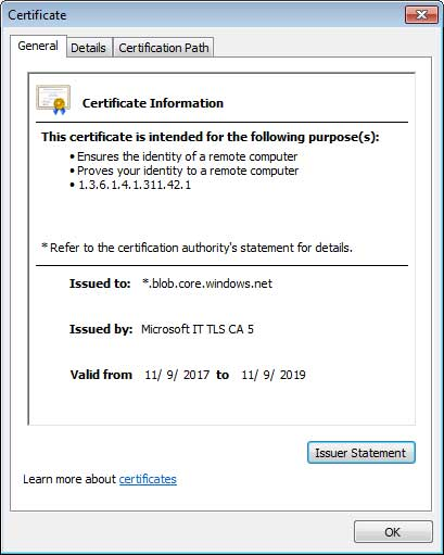 Signed SSL Certificate -Bleeping Computer