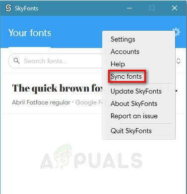 Syncing fonts with Skyfonts