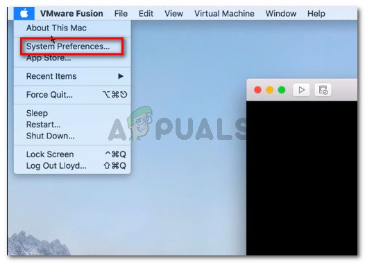 Go to Apple icon > System Preferences