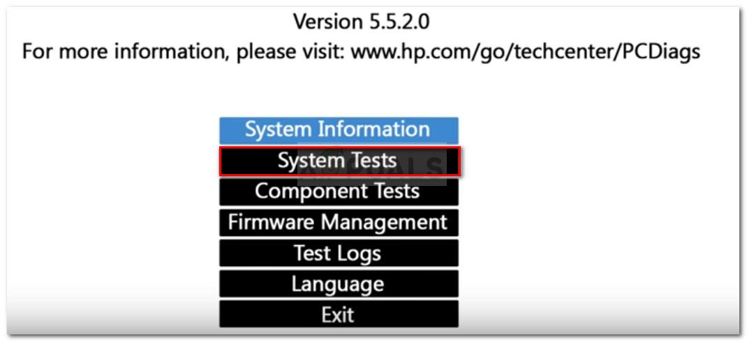 Untersuchung auf ein Hardwareproblem mithilfe von Systemtests