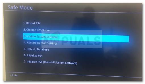 Update system storage
