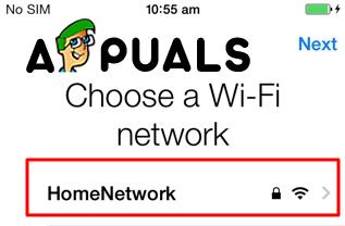 Choose Wi-Fi Network