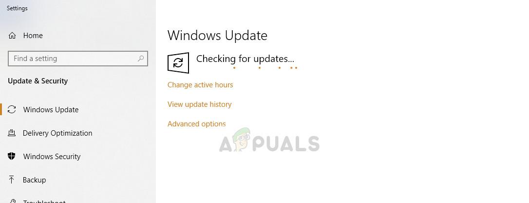 Windows Update - Settings on Windows 10
