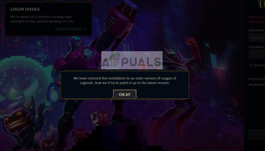 Un problème est survenu lors de la correction de la boucle de League of Legends sous Windows 10