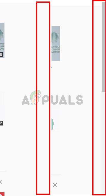 Chrome scrollbar disappears