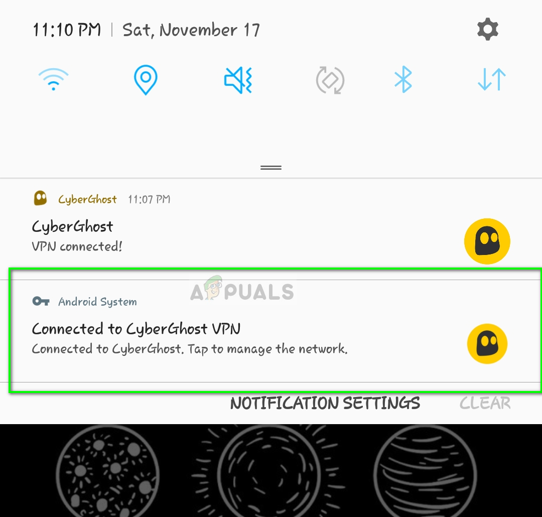 Checking if VPN is connected - Android