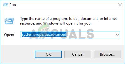 Type systempropertiesadvanced in run