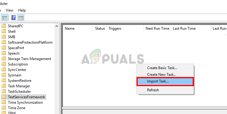 Right click in task scheduler and select Import