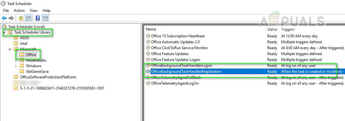 Microsoft Office scheduled tasks