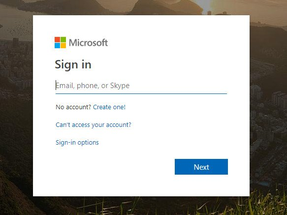 Signing in to Microsoft Account