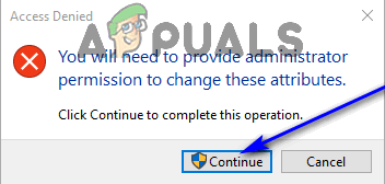 click continue in uac prompt