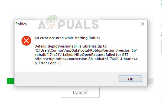Fix An Error Encountered Starting Roblox Appuals Com