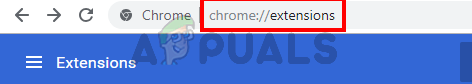 type chrome://extensions/