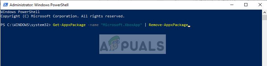 Uninstalling Xbox application