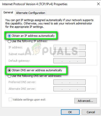 Enabling DHCP service