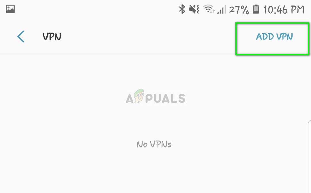 Adding new VPN - Connection settings on Android