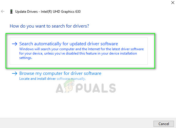 Searching automatically for latest drivers