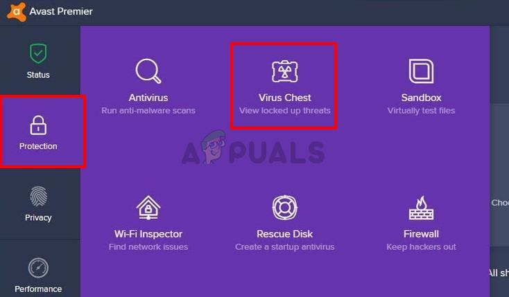Avast Virus Chest