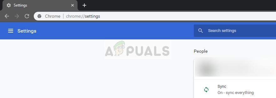 Settings- Chrome