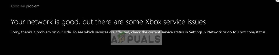 Xbox network status