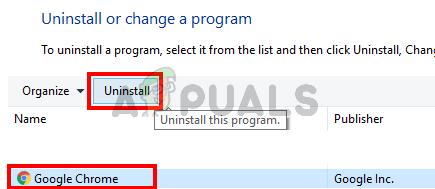 Uninstalling Chrome