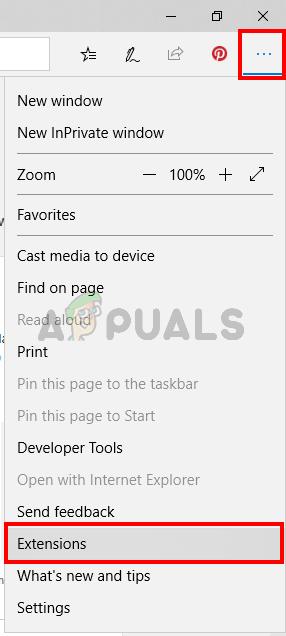 Open menu and click extensions
