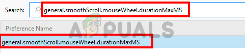 Select general.smoothScroll.mouseWheel.durationMaxMS flag value