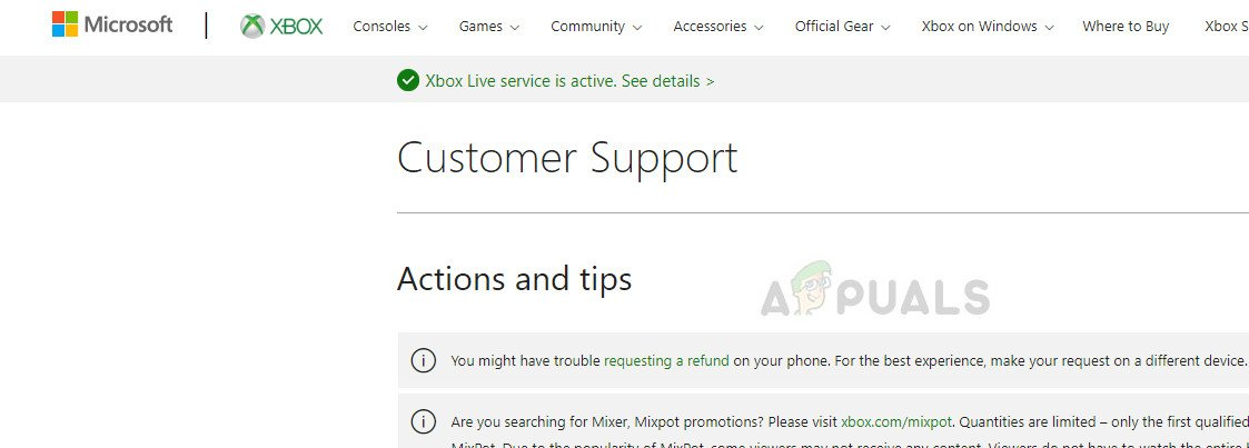 Xbox Online support