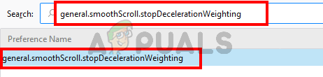 Select general.smoothScroll.stopDecelerationWeighting flag
