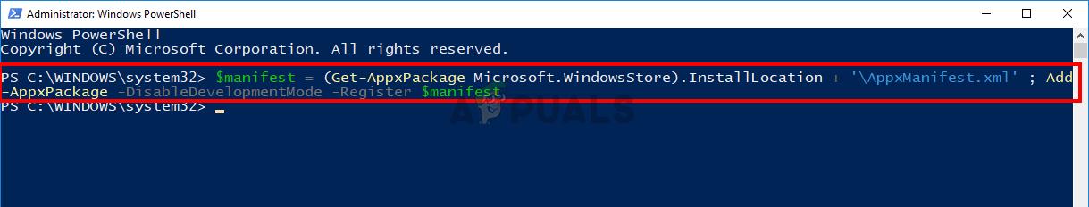 Reinstall Windows Store via powershell