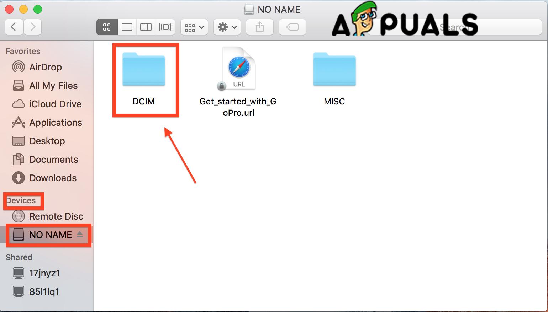 Open DCIM folder