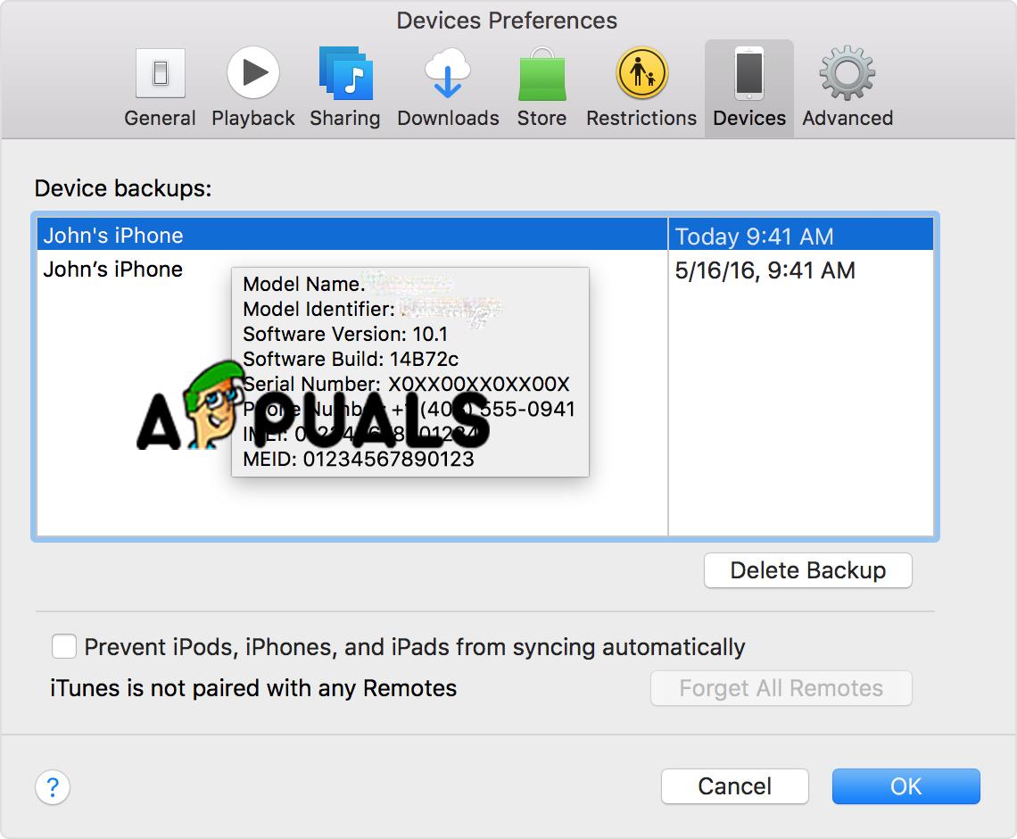 Delete Backups