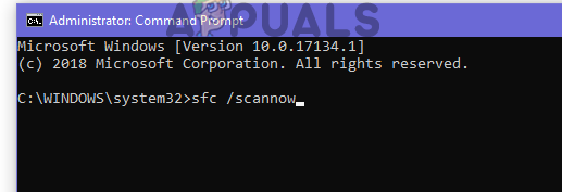 Type sfc /scannow in CMD and press enter to start the scan