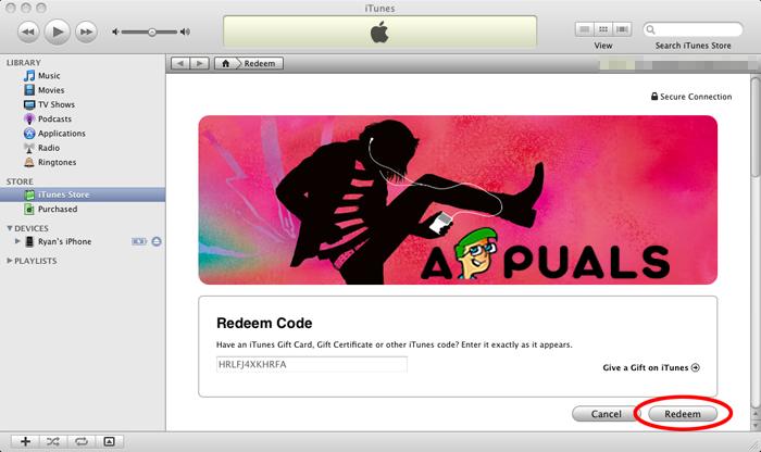 Redeem code iTunes