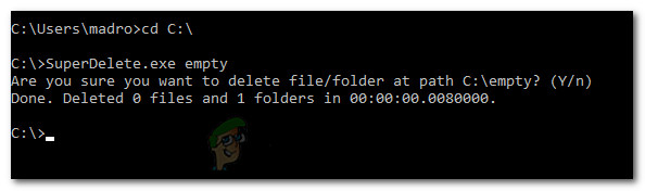 Deleting long path folders or files with SuperDelete