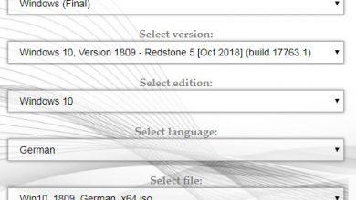(Windows 10 V1809 download via Adguard)