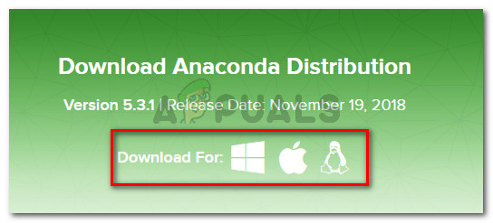 Downloading Anaconda Distribution