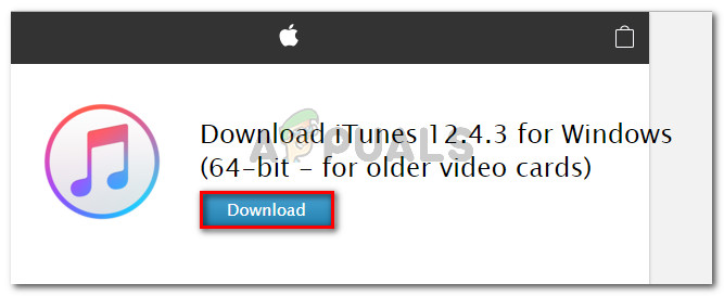 Download iTunes 12.4.3 build (for older video cards)