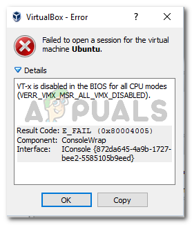 VT-x is disabled in the BIOS for all CPU modes (VERR_VMX_MSR_ALL_VMX_DISABLED