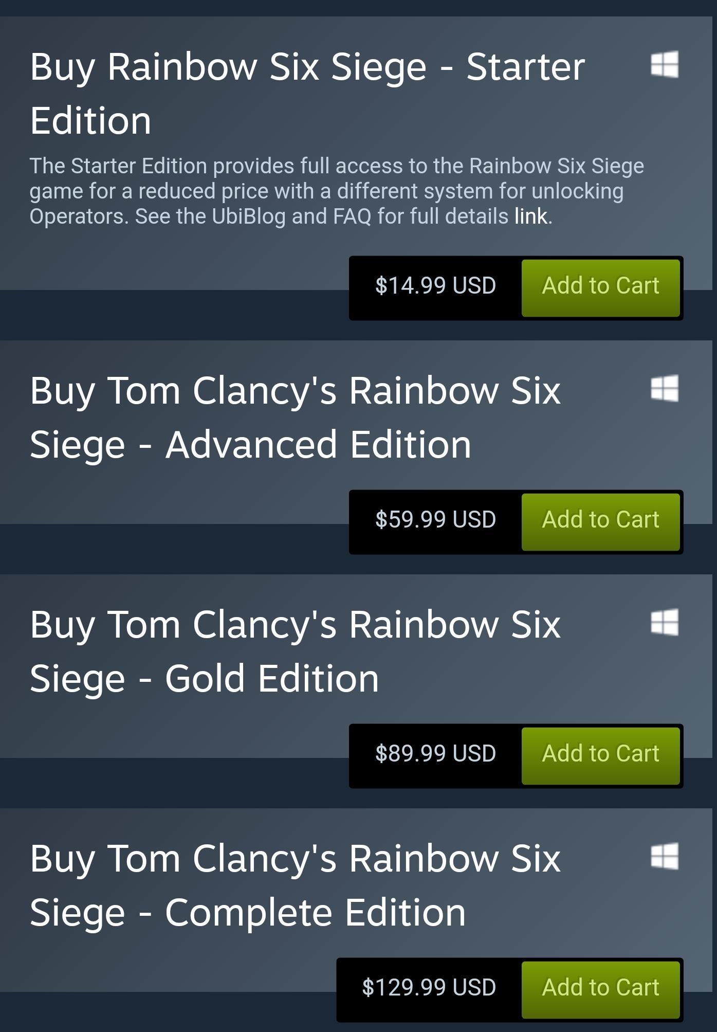 Rainbow Six Siege Steam